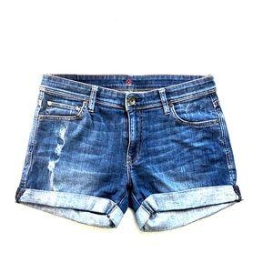 Sinclair Jean denim shorts 28 blue dark wash